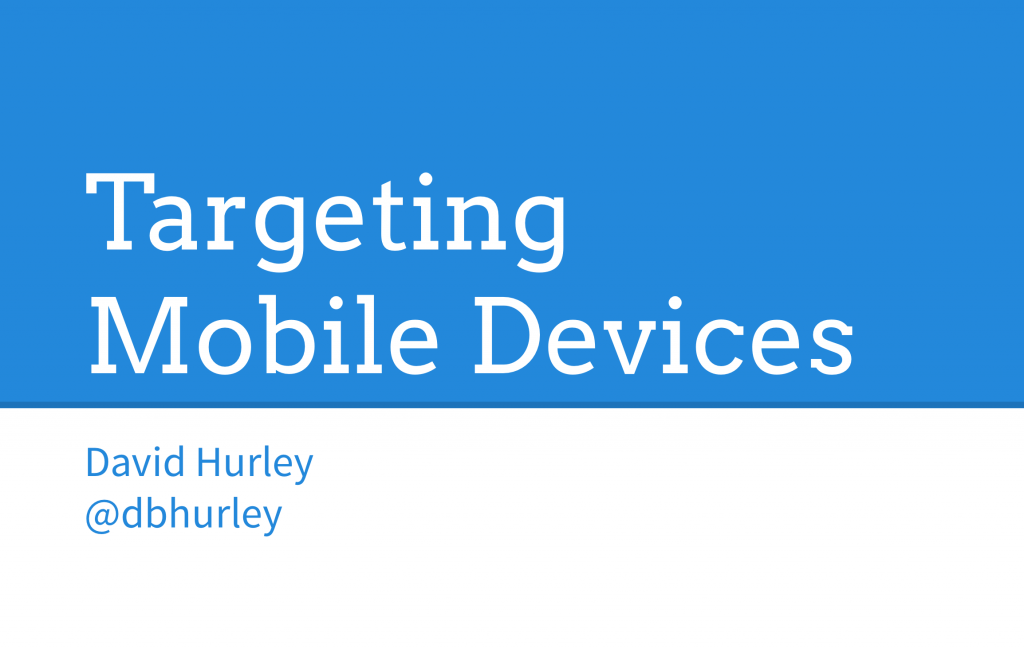 targeting mobile devices slideshow